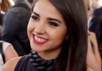 Becky G teeth Gap and Whitening with Braces
